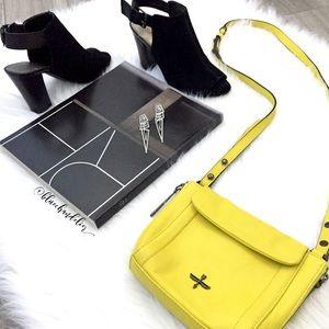pour la victoire • yellow mini crossbody bag